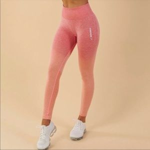 GymsharkSeamless Ombre Leggings Coral Peach Dry S